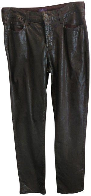 Item - Brown Coated Leather Like Skinny Jeans Size 33 (10, M)