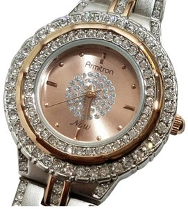 Armitron Armitron Rose Gold Tone Crystal Accents Watch