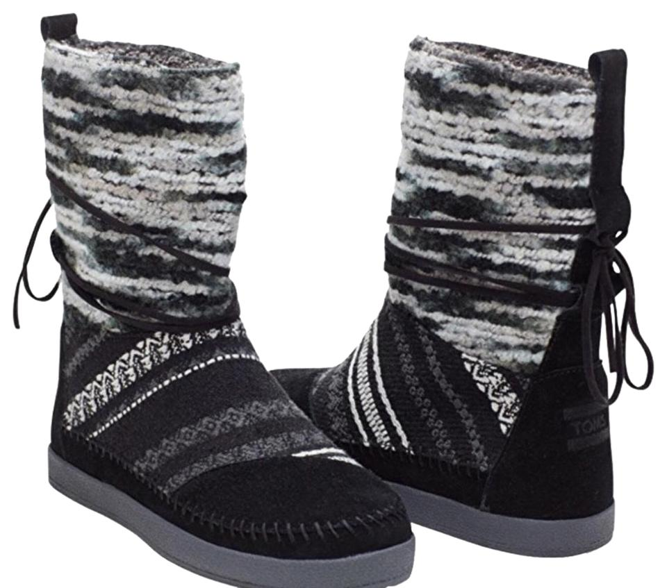 e7bcd78f223 TOMS Black Mixed Textile Nepal Boots Booties Size US 7 Regular (M