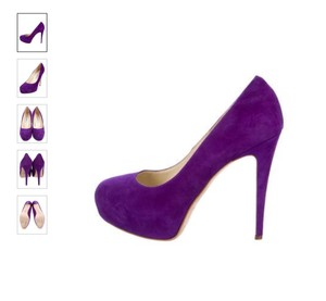 Brian Atwood Suede Covered Purple Pumps