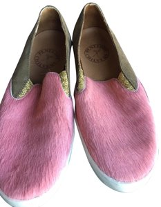Penelope Chilvers pink and llight brown Flats