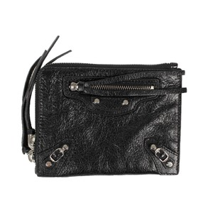 Balenciaga Pebbled Leather Classic Pouch XS