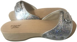 Dr. Scholl's Never Worn Silver/Sparkly Sandals