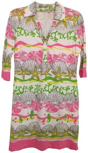 Barbara Gerwit short dress Pink, white, green and yellow on Tradesy