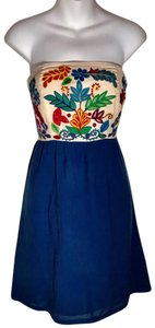 Judith March short dress Blue white on Tradesy