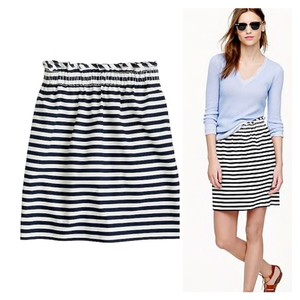 J.Crew Mini Skirt navy white