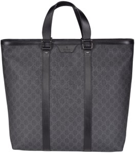 Gucci Purse Handbag Tote in Black and Grey