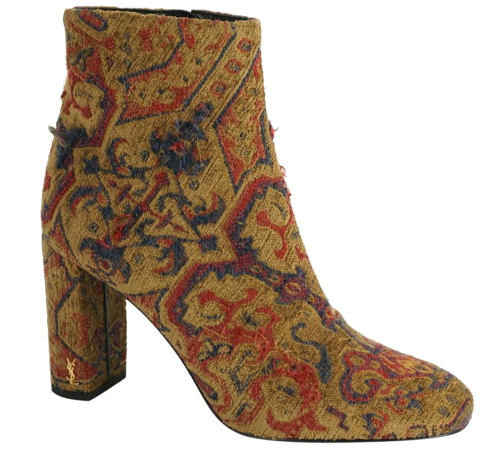 b480c3a8256 Saint Laurent Party Ysl Yves Fabric 7091205 Multi Boots Image 0 ...