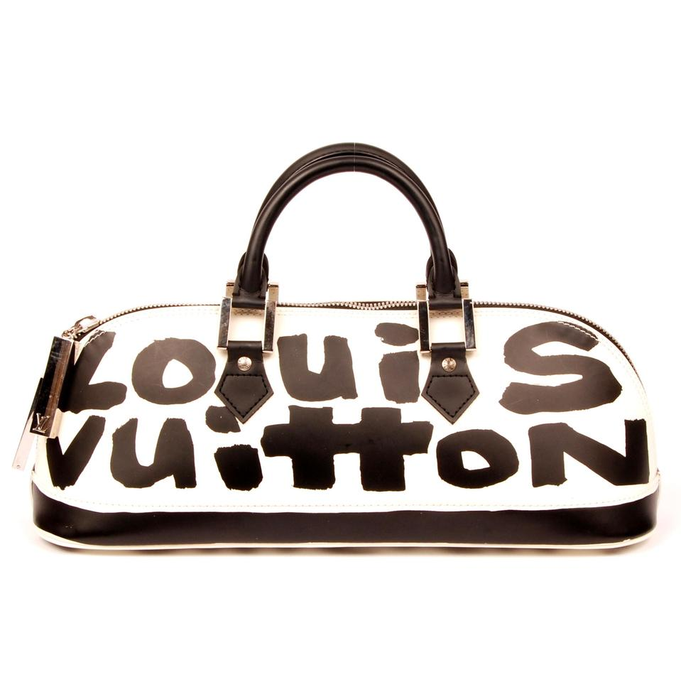 faa3cfaf8a8 Louis Vuitton Alma Stephen Sprouse Vintage Graffiti Limited Edition Satchel  in White Image 0 ...
