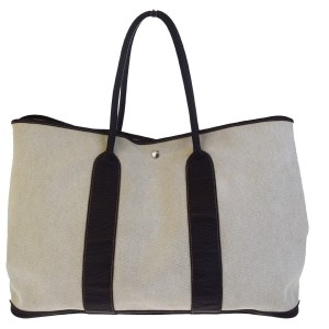 3f567a654 Hermès Made In France Tote in Ivory. Hermès Garden Party Tgm Large Shoulder  Canvas Ivory Leather Tote