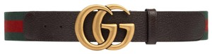 Gucci 409416 Size 95cm/38in UNISEX Web belt with Double G buckle