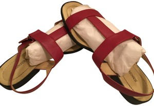 Jennifer Moore Leather Red Sandals
