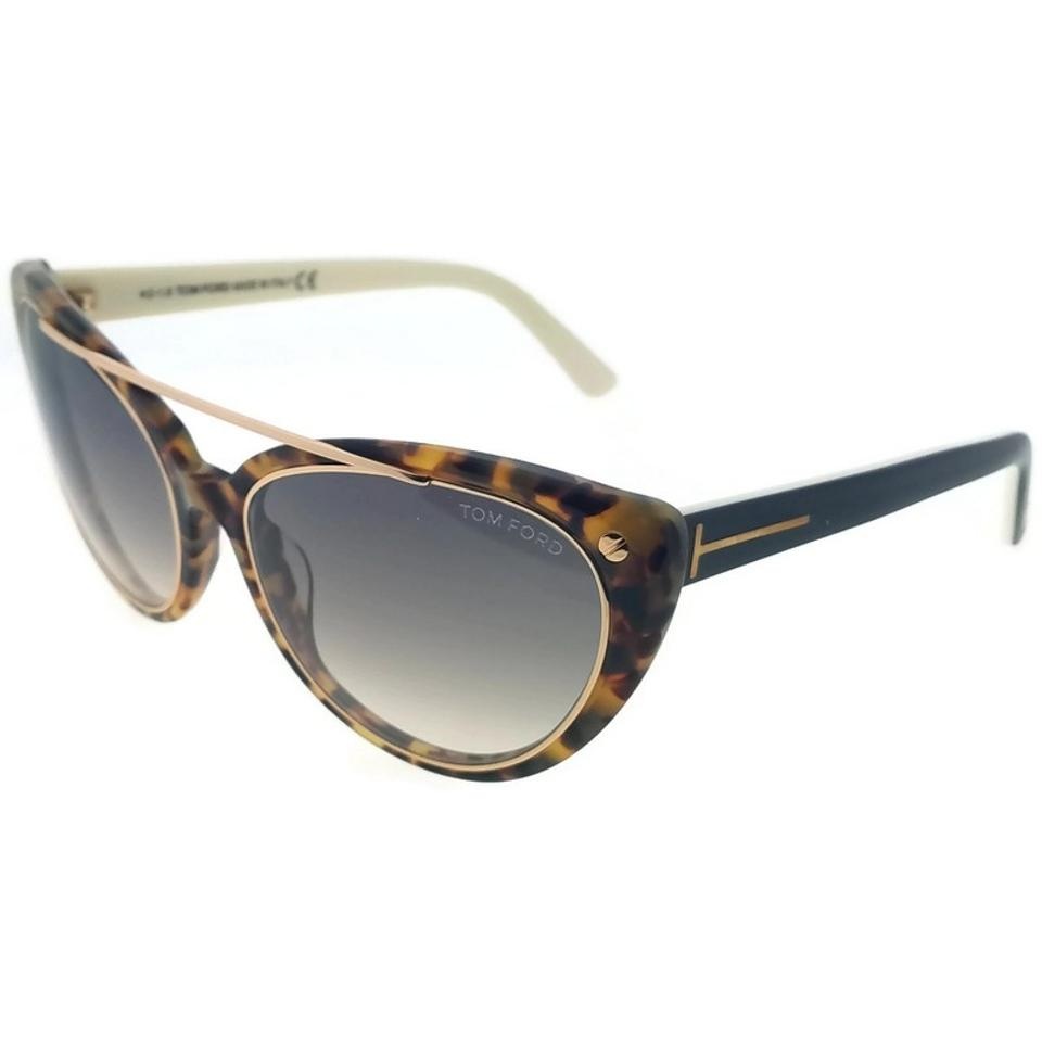 096366c18e Tom Ford TOM FORD Edita TF384 Sunglasses Tortoise Shell Havana Cat Eye  Image 0 ...