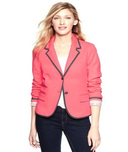 Gap Formal Fitted Stretchy Neon pink Blazer
