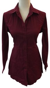 New York & Company Top Maroon Burgundy