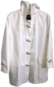 Burberry Toggle Hooded Summer Preppy white Jacket