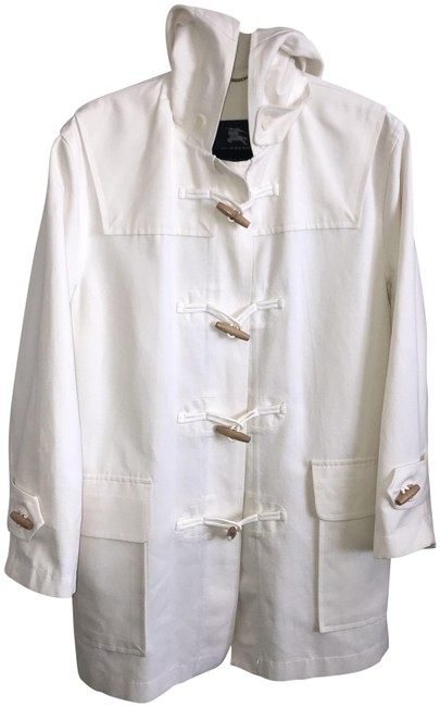 Item - White Toggle Hoodie Jacket Size 12 (L)