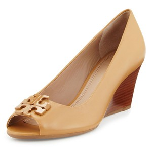 Tory Burch Logo Tb Blond Wedges