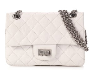 6fbed1a903b480 Chanel 2.55 Reissue **la** 50th Anniversary Double Flap White Quilted Aged  Calfskin Cross Body Bag