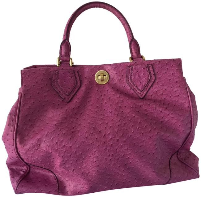 Marc Jacobs Lucy Pvc Pink Ostrich Effect Tote Marc Jacobs Lucy Pvc Pink Ostrich Effect Tote Image 1