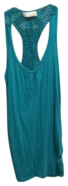 Preload https://item1.tradesy.com/images/c-and-c-california-teal-tank-topcami-size-0-xs-2346550-0-0.jpg?width=400&height=650