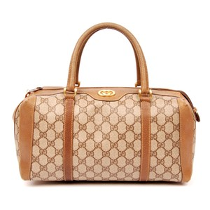 Gucci Vintage Monogram Canvas Gg Satchel in Brown