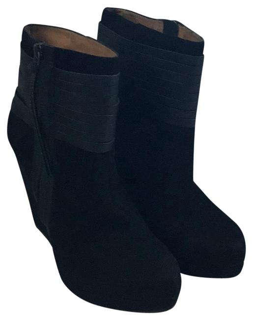 Item - Black Suede/Leather Eliza Boots/Booties Size US 9.5 Regular (M, B)