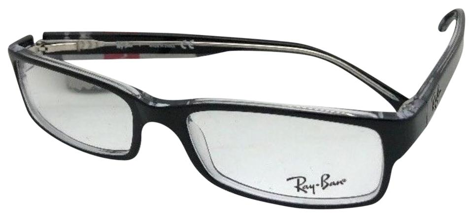 Ray-Ban New Rx-able Rb 5114 2034 52-16 135 Black On Clear Frames ...