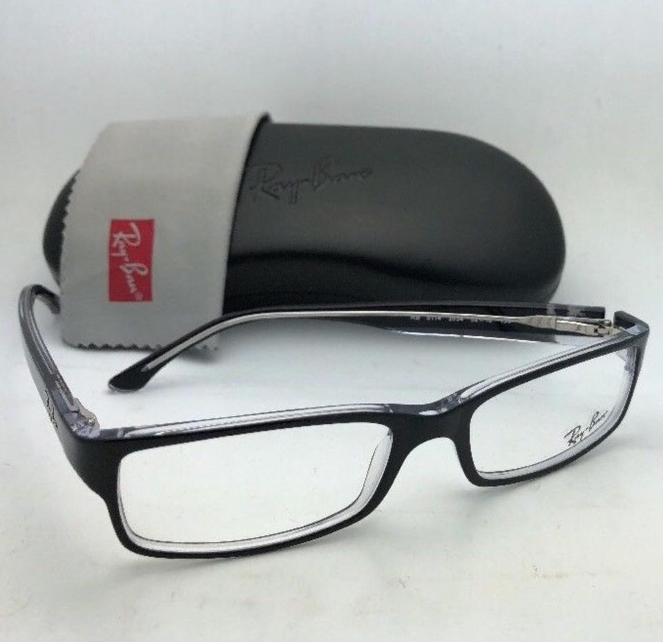45cbb239c34 Ray-Ban New Rx-able Rb 5114 2034 52-16 135 Black On Clear Frames Sunglasses