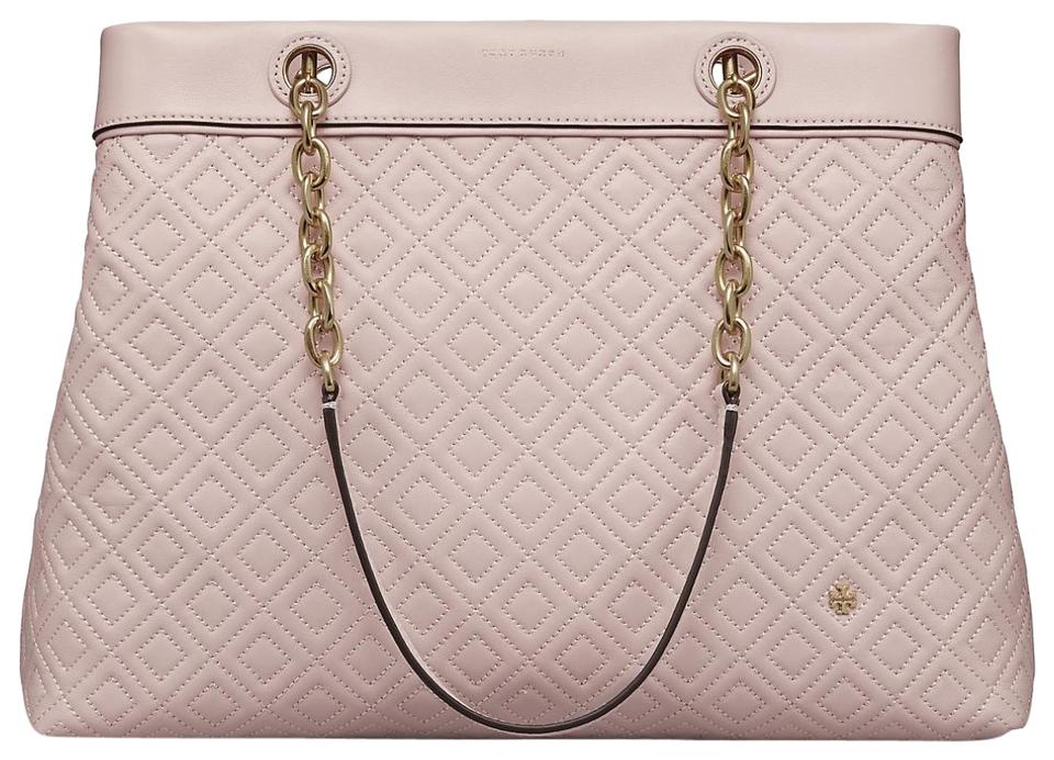38b41b0ac70 Tory Burch Fleming Shell Triple Compartment Tote Pink Leather ...