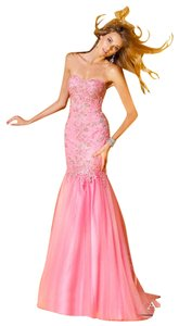 Alyce Paris Tulle Evening Gown Beaded Lace Dress