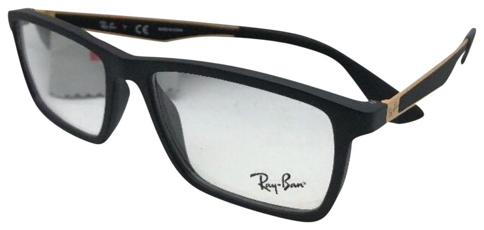 Ray-Ban New Rx-able Rb 7056 5644 55-17 145 Black & Gold Clear Frames ...