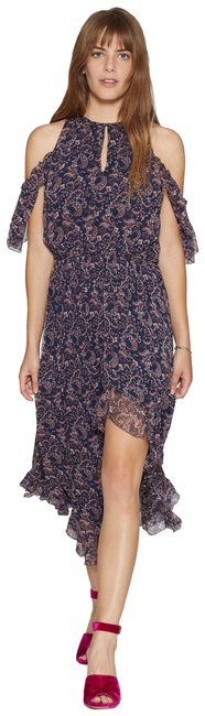 Item - Navy and Pink Agnek Mid-length Casual Maxi Dress Size 12 (L)