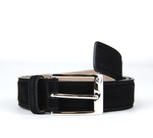 Gucci Black Suede Leather Belt W/Square Buckle 90/36 345658 Ca00n Groomsman Gift
