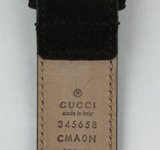 Gucci Brown Suede Leather Belt with Square Silver Buckle 105/42 345658 Cma0n 2140 Groomsman Gift Image 5