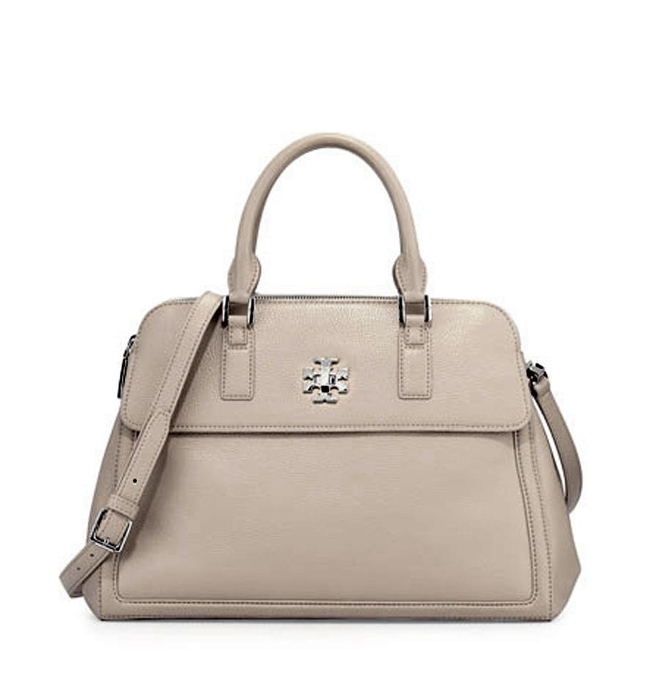 ef1b8a724d99 Tory Burch Mercer Dome French Gray Leather Satchel - Tradesy