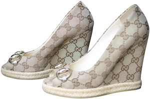 Gucci beige, ebony Wedges
