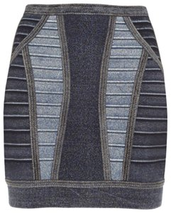Hervé Leger Mini Skirt Blue
