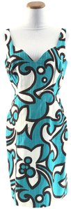 MILLY short dress Turquoise/Multi on Tradesy