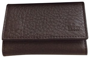Gucci Gucci Brown Leather Key Case