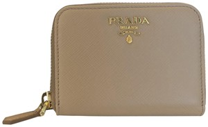 Prada Prada Saffiano Zip Coin Purse Wallet