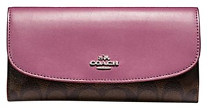 Coach Signature full size checkbook wallet