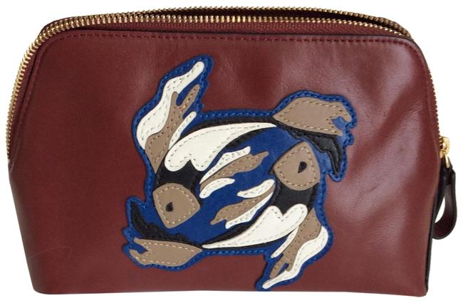 Item - Brown Origami Leather Case/ Pisces Cosmetic Bag