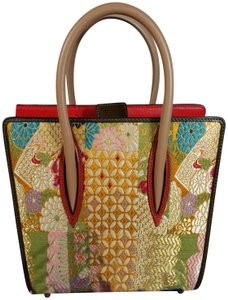 4db34bab5ad Christian Louboutin New Tote in Dark Taupe Brown   Mulitcolor Floral