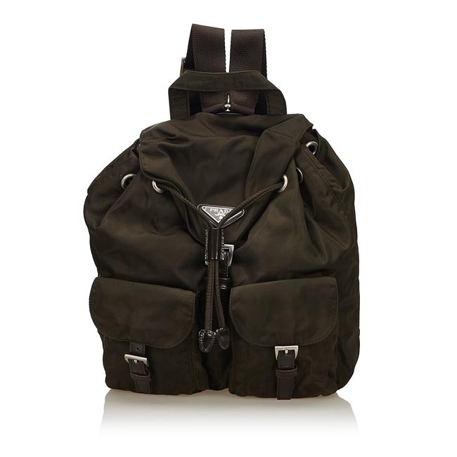 Item - Small Tessuto Olive Green Canvas Backpack