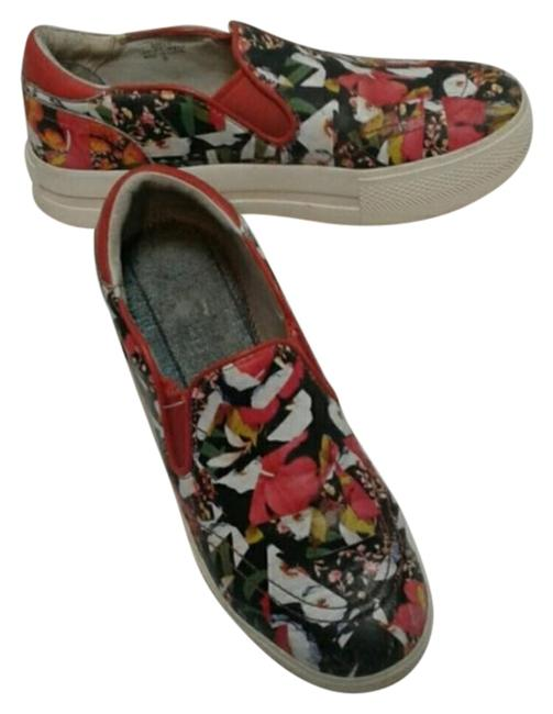 Item - Black Jungle Red Leather Slip On Sneakers Size EU 38 (Approx. US 8) Regular (M, B)
