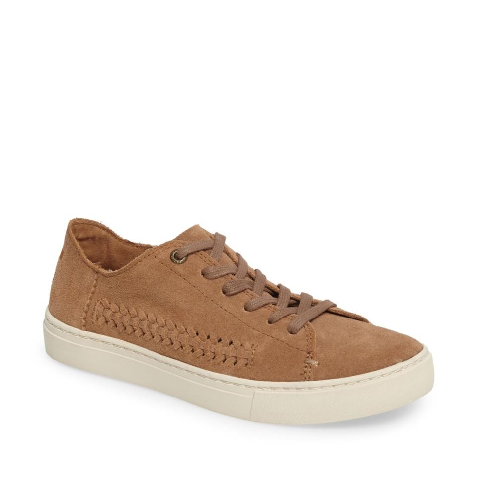 c822e234ac9 TOMS Brown Nlenox Toffee Deconstructed Suede Woven Panel Sneakers Sneakers