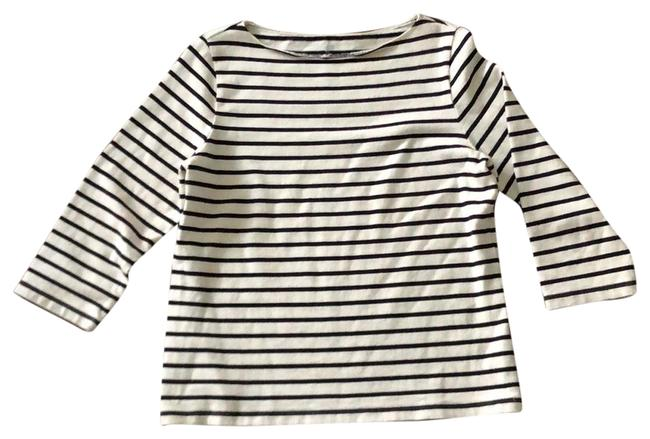 Item - White with Black Stripes Classic Tunic Size 6 (S)