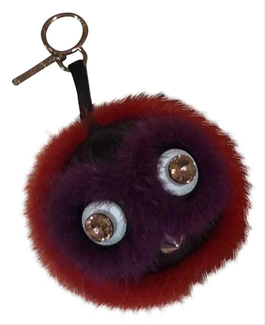 Item - Purple Orange Fur Bag Charm