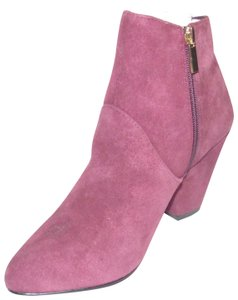 "DV by Dolce Vita Dressy Or Casual Nwob Pop Of Color 7 With 3"" Heel burgundy suede side zip booties Boots"